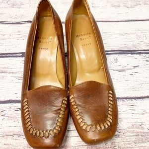 Roberto Santi Brown Leather Heel Stitching 35